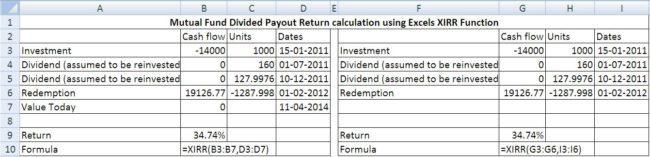 XIRR-div-payout