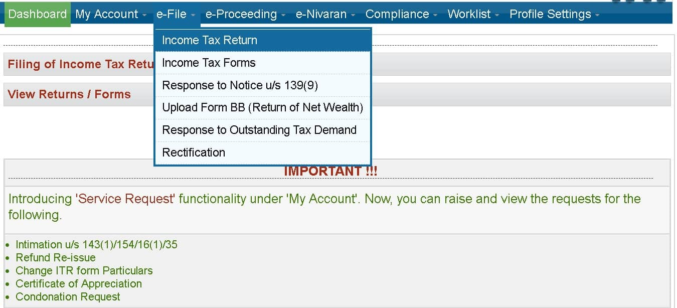 Guide to efile ITR1 Income Tax Return For AY 2019-20