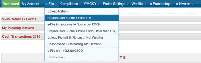 ITR1 fig9 650x206 - Guide to efile Income Tax Return For AY 2017-18