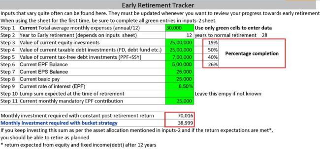 a tool to check if you are on track to retire early