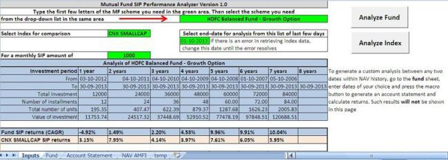 Mutual Fund SIP Returns Analyzer