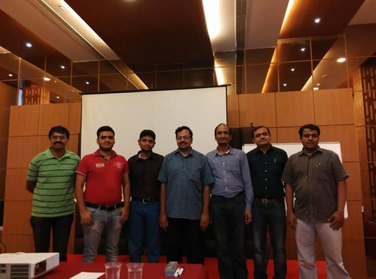 Investor Workshop -II. From left to right: Guruprasad Bhupathiraan, Mohit Pandey, Krishna Kishore, myself, Muthu Krishnan, Prashant Kulkarni and Prem Nath