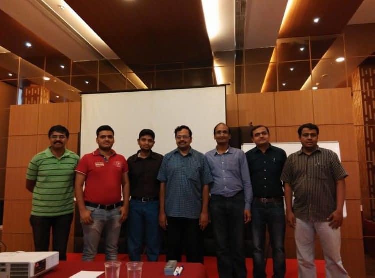Investor Workshop -II. From left to right: Guruprasad Bhupathiraan, Mohit Pandey, Krishna Kishore, myself, Muthu Krishnan, Prashant Kulkarni and Prem Nath