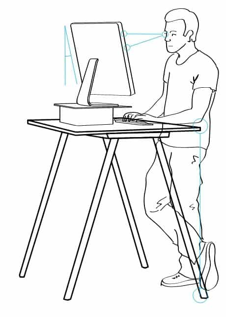 """Standing desk illustration"" by Angus McIntyre and Mattthew"