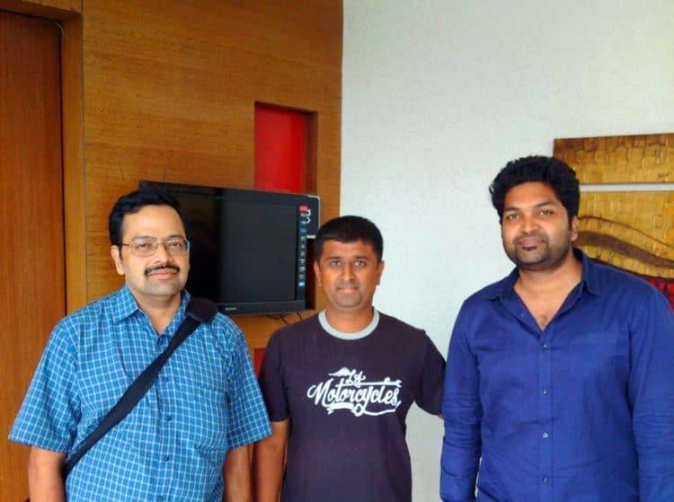 With Phani (right) and Vijay (centre).