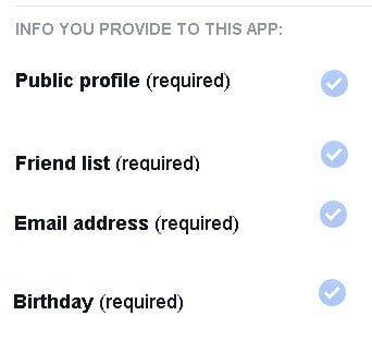 When you click on a FB app, you might get this!