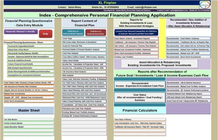 xlfinplan excel based personal financial planning and wealth