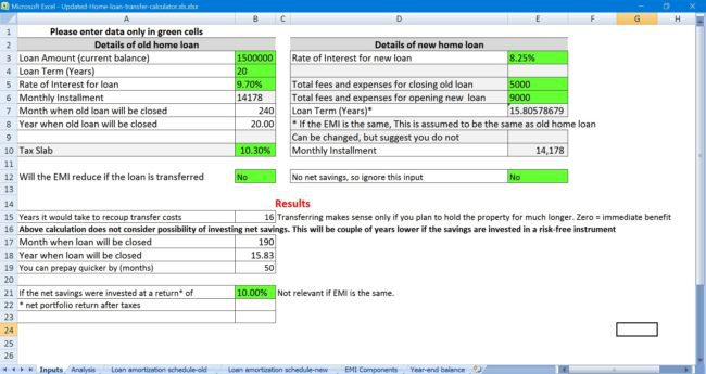 home-loan-transfer-calculator