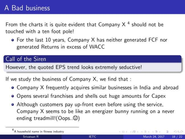 slide 18: It's Earnings That Count: Can you identify the next Satyam?