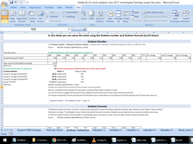 us stock analysis spreadsheet graham number 650x486 - Stock Analysis Spreadsheet for U.S. Stocks: Free Download