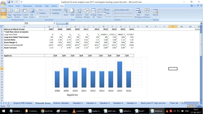 Stock Analysis Spreadsheet for U S  Stocks: Free Download