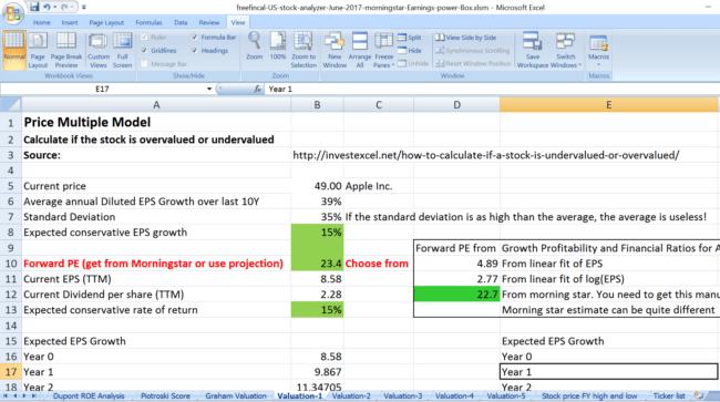 us stock analysis spreadsheet price multiple V1 650x363 - Stock Analysis Spreadsheet for U.S. Stocks: Free Download