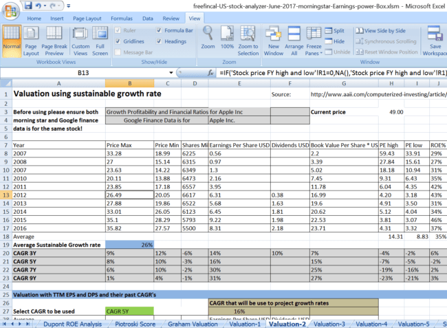 stock analysis spreadsheet for u s stocks free download. Black Bedroom Furniture Sets. Home Design Ideas