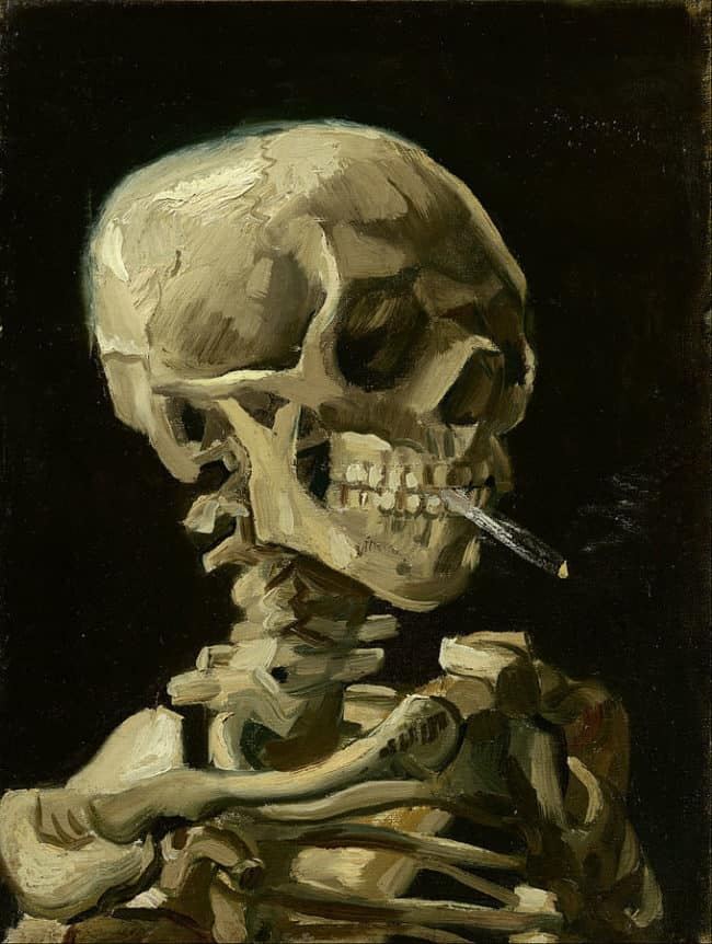 679px Vincent van Gogh   Head of a skeleton with a burning cigarette   Google Art Project 650x862 - How to lower your medical insurance costs