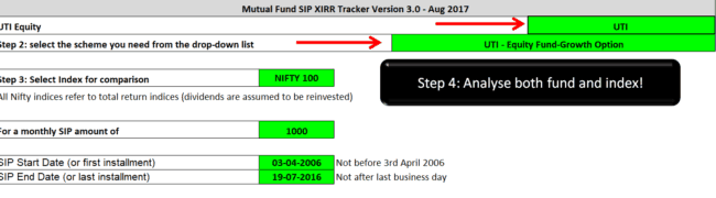 freefincal SIP XIRR tracker 650x180 - Track your Mutual Fund SIP Returns Month by Month!
