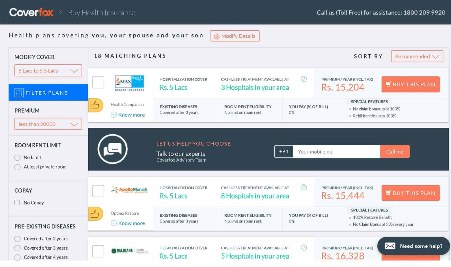 coverfox 3 - How I selected a health insurance policy