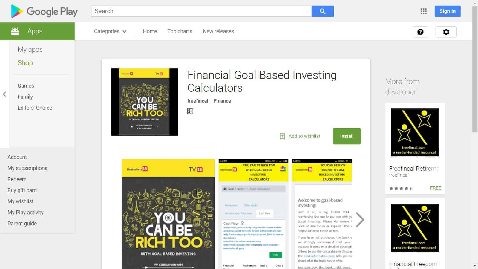 """Google play - All """"You can be Rich Too"""" Calculators are now available on Google Play!"""