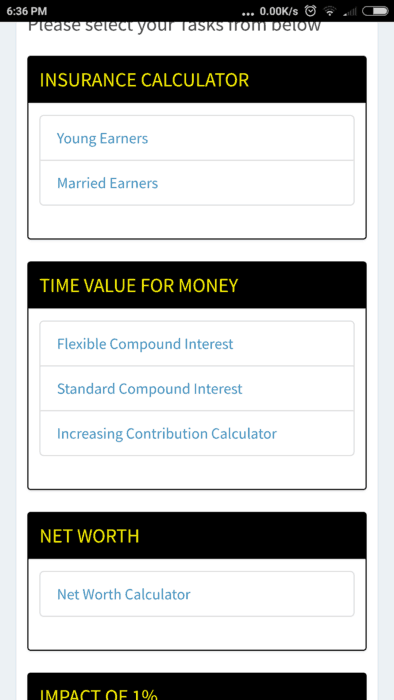 """Screenshot 2018 02 07 18 36 47 107 com.freefincal.goal  394x700 - All """"You can be Rich Too"""" Calculators are now available on Google Play!"""