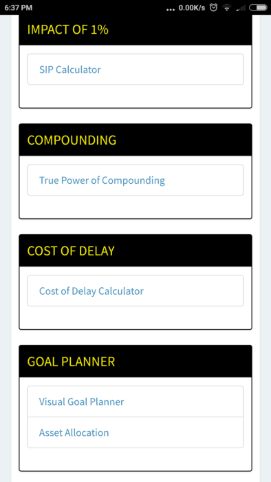 """Screenshot 2018 02 07 18 37 04 957 com.freefincal.goal  394x700 - All """"You can be Rich Too"""" Calculators are now available on Google Play!"""