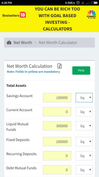 """Screenshot 2018 02 07 18 38 39 666 com.freefincal.goal  394x700 - All """"You can be Rich Too"""" Calculators are now available on Google Play!"""