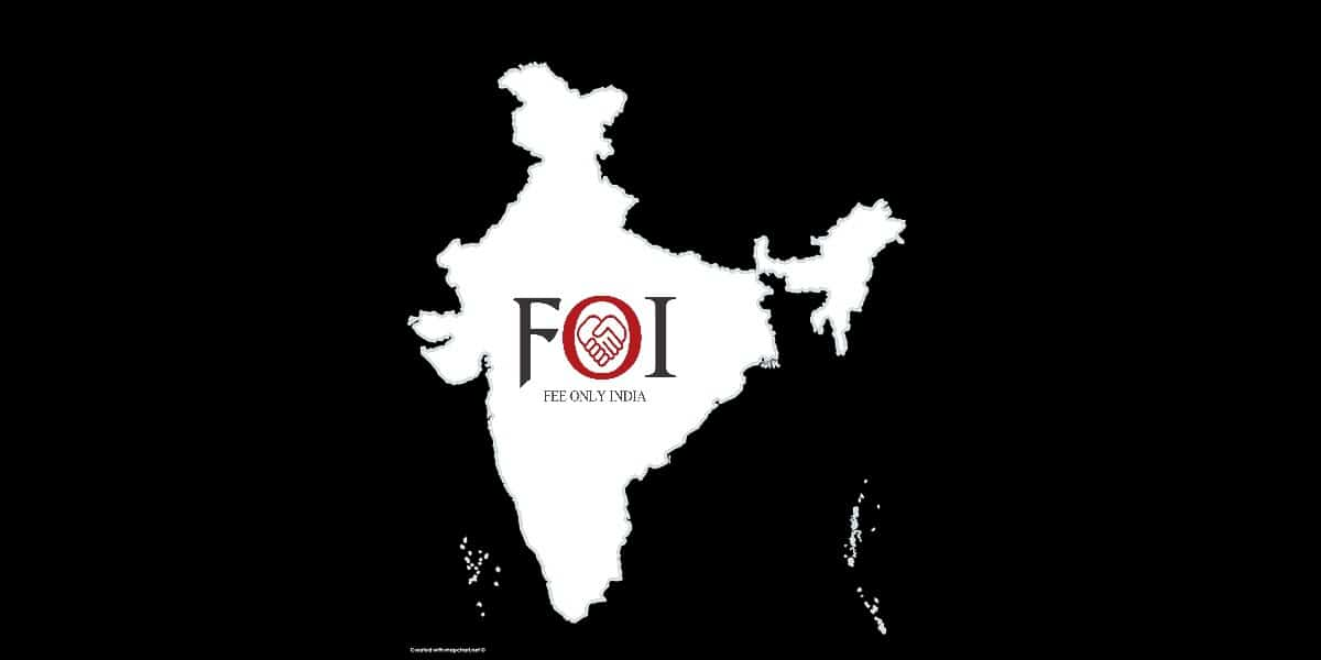 logo of fee only india with India map