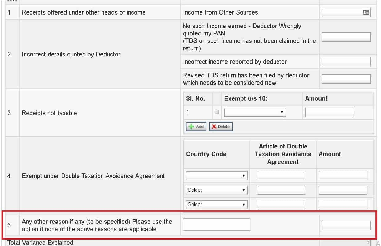 Rectifying mismatch between salary income in return and Form 26AS