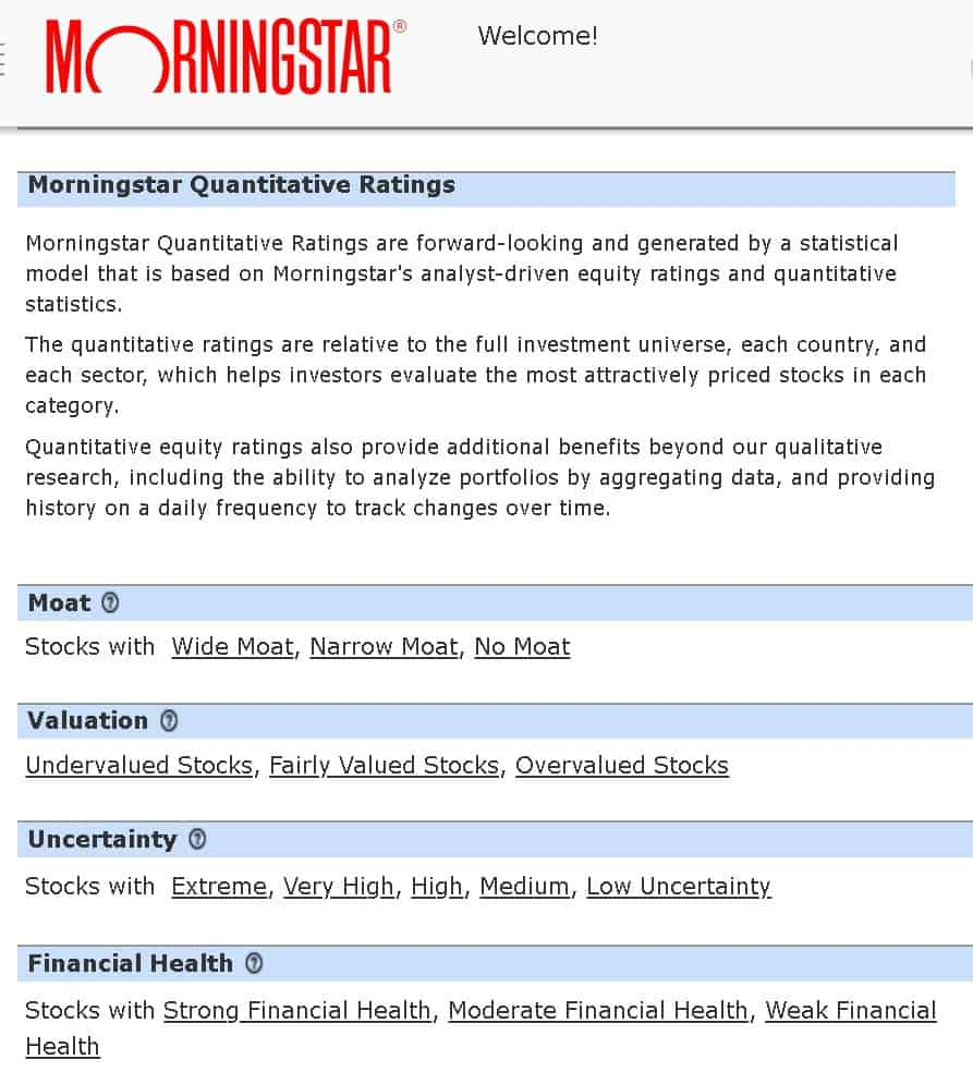 morningstar quantitative equity ratings 1 - How to quickly spot undervalued stocks