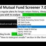 Download New Versions: Mutual Fund Lump sum & SIP Screeners