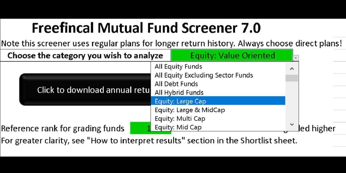 LS screener cover - Download New Versions: Mutual Fund Lump sum & SIP Screeners