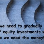 Why we need to gradually pull out of equity investments well before we need the money!