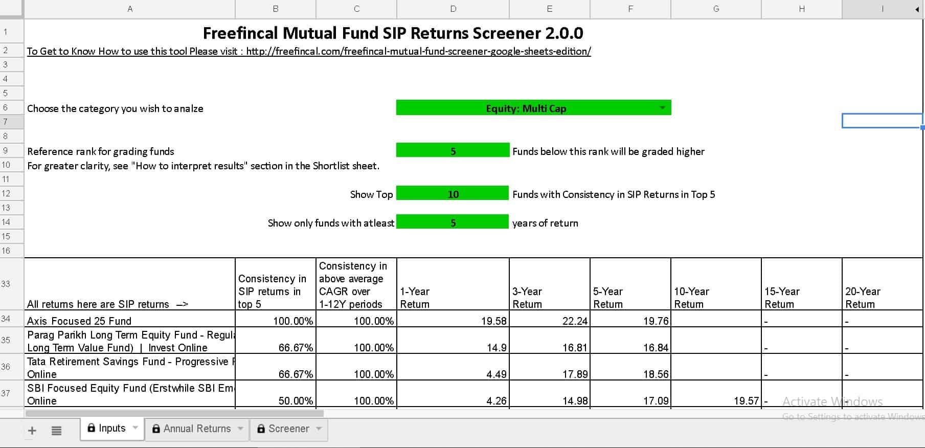 SIP screener cover - Download New Versions: Mutual Fund Lump sum & SIP Screeners