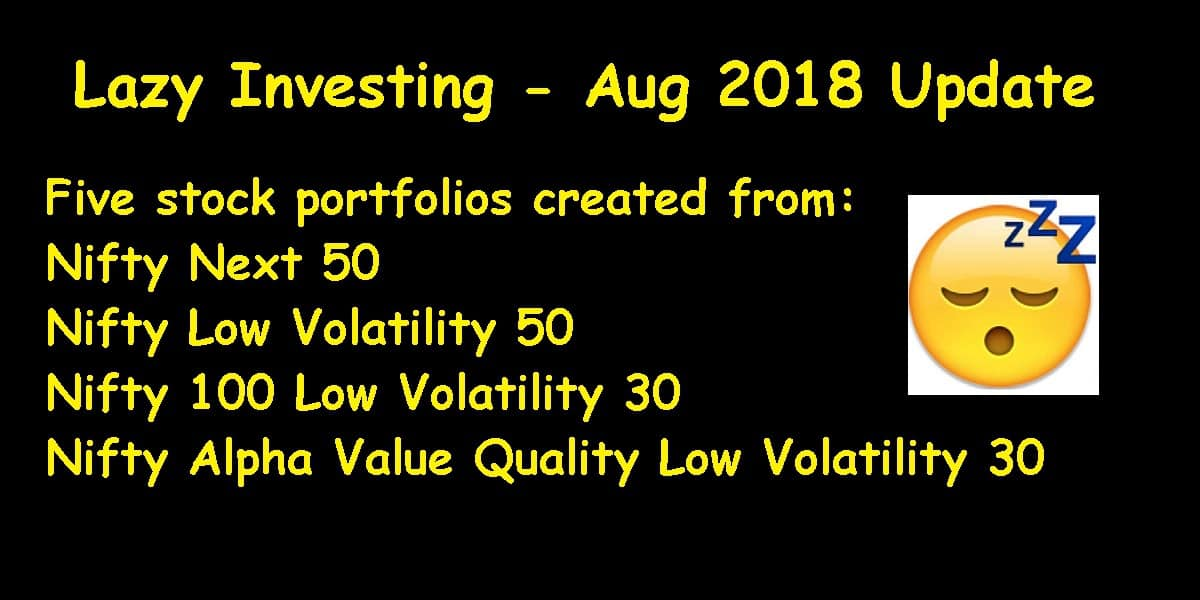 lazy investing cover aug 2018 - Lazy Investing: Five Test Stock Portfolios Aug 2018 Update