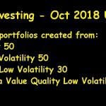 Lazy Investing: Stock Test Portfolio October 2018