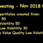 Stock Portfolio Update November 2018 (Lazy Investing)