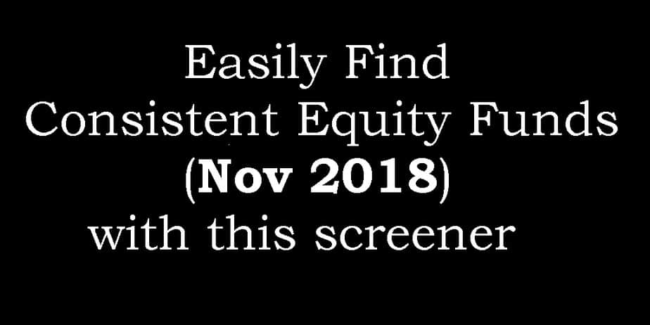 Best Equity Mutual Funds in November 2018 (free screener download)