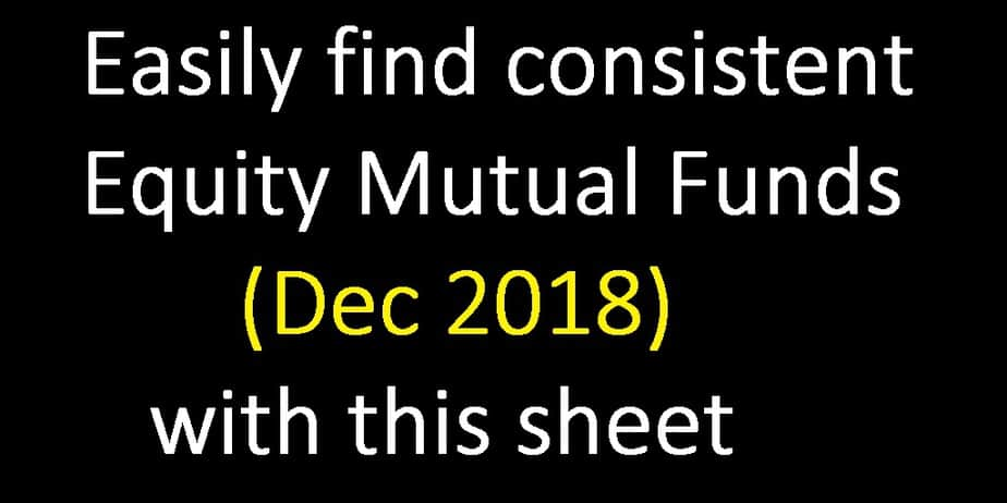 Easily Shortlist Best Equity Mutual Funds for December 2018