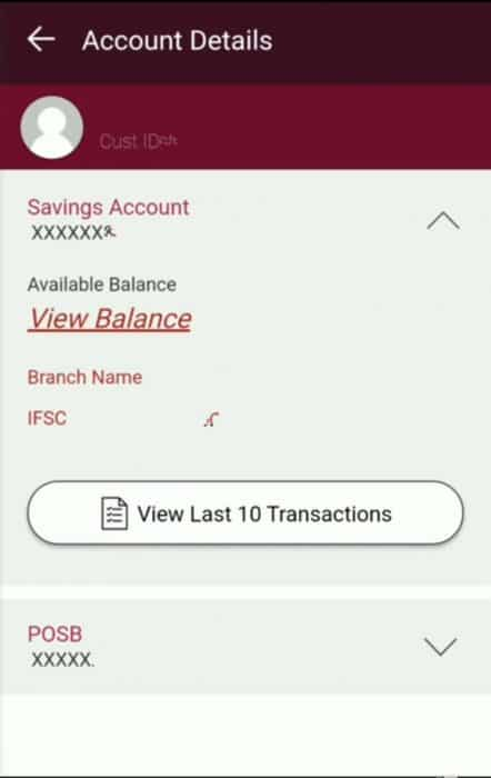 IPPB App Balance view screenshot