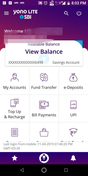 Creating a virtual debit card: Login to the Mobile Banking App from your Bank