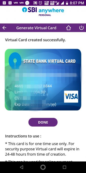 This is how the virtual debit card will look like