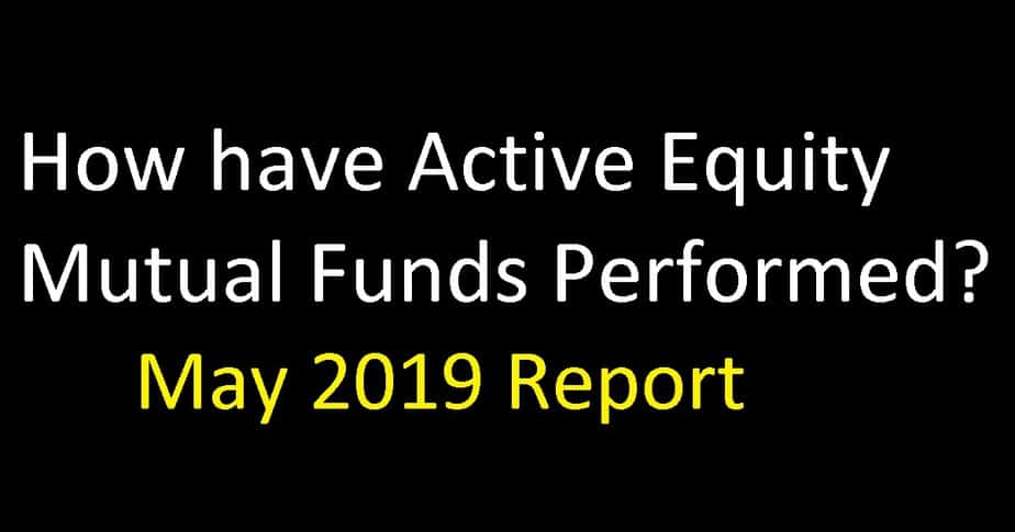 How have Active Equity Mutual Funds Performed: May 2019 Report