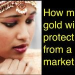 How much gold in my portfolio will protect against a market crash?