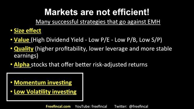 momentum and low volatility stock investing in India slide 7