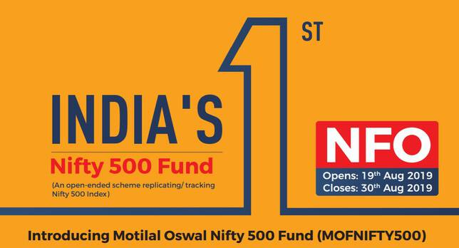 Motilal Oswal Nifty 500 Fund brochure cover page