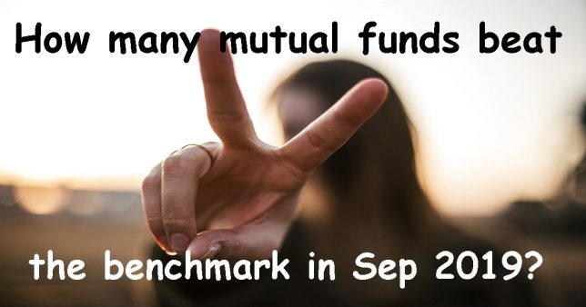 how many mutual fund beat the benchmark in september 2019