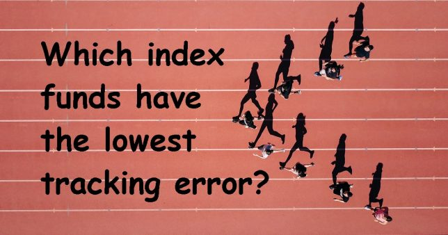 Which index funds have the lowest tracking error