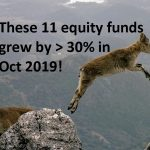 AUM of 11 equity funds (6 are ETFs!) grew by more than 30% in Oct 2019