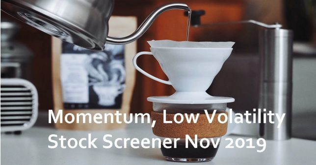 Momentum, Low Volatility Stock Screener Nov 2019