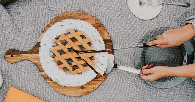 image of a cake being sliced. Representative of tax deduction at source for mutual fund dividends and possibly capital gains as discussed in this article.