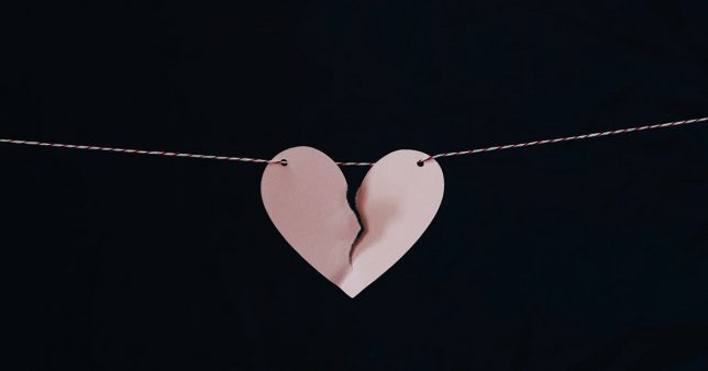 image of a broken heart to signify the sudden drop in PPF and SSY interest rates