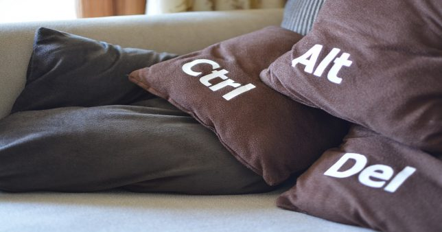 image of pillows with ctrl alt and del labels to signify market crash destroying two-year imbalance among Index stocks